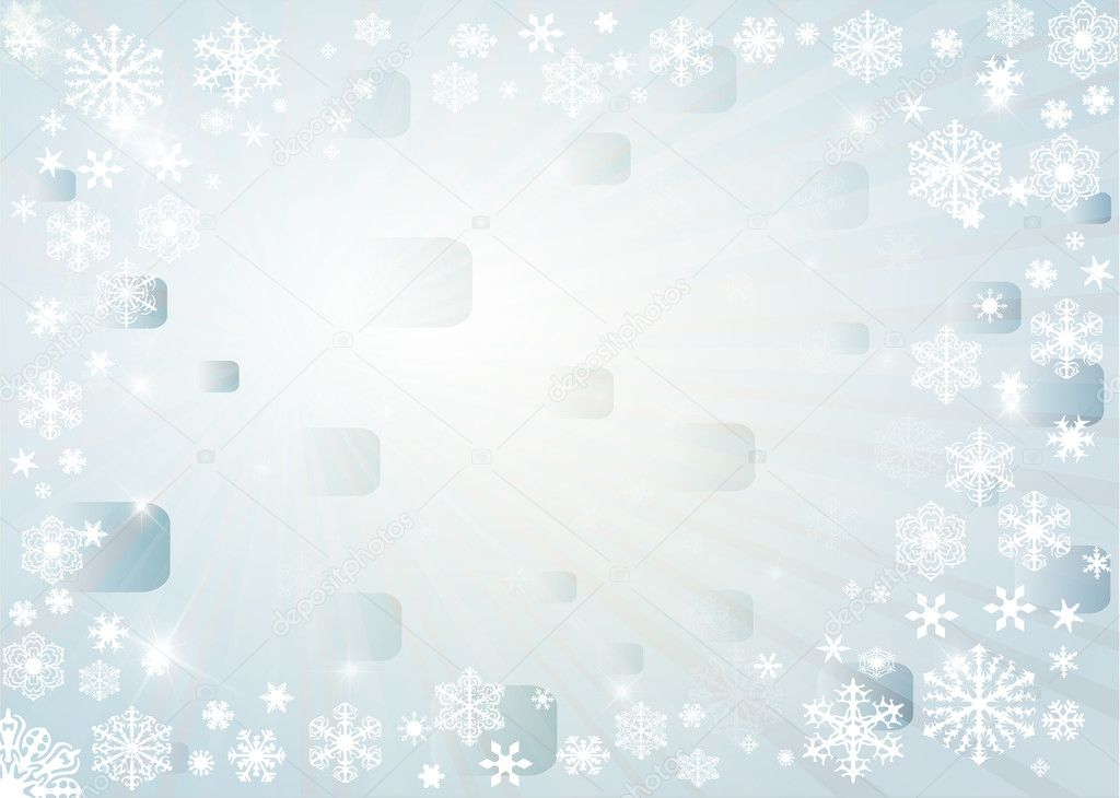 Vector Christmas background with white snowflakes — Stock Photo #7532055