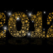 Year 2012 with snowflakes and and lights — Stock Photo #7617524