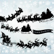 Santa Clause silhouettes — Stock Photo
