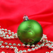 Green Christmas ball - Stock Photo