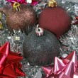 Christmas gifts with Christmas balls — ストック写真