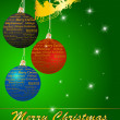Christmas background with balls and Santa Clause — Foto Stock