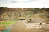 Chalk quarry — Stock Photo