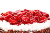 用草莓蛋糕 — 图库照片