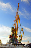 The large industrial crane for cargo — Stock Photo