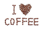 Phrase - I Love Coffee — Stock Photo