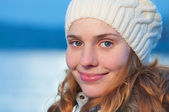 Portrait of a young pretty woman — Stock Photo