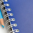 Blue pencil and spiral of notebook — Foto de Stock
