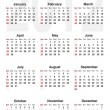 Vettoriale Stock : Calendar for 2012