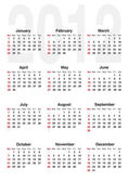 Calendar for 2012 — Vettoriale Stock