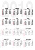 Calendar for 2012 - german — Stock Vector