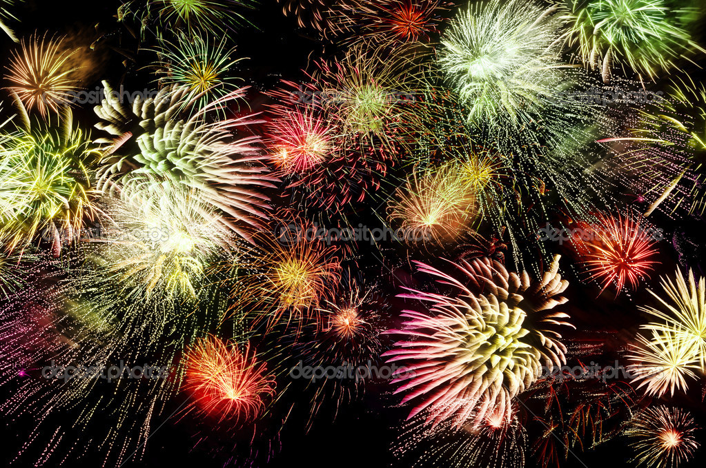 huge sparkling firework — Stock Photo #7370250