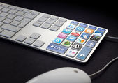 Social Media Keyboard — Stock Photo