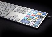 Social Media Keyboard — Stock Photo