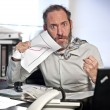 Businessman in Panic — Stock Photo
