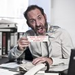 Businessman in Panic - Stock Photo