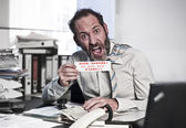 Businessman in Panic — Stock Photo