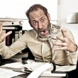Furious Businessman — Stock Photo