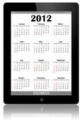 Calendar for 2012 in IPad2. — Stock Photo
