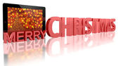 Tablet PC with Christmas Tree — Stock Photo