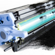 Stock Photo: Printer toner cartidges