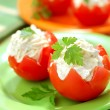 Stock Photo: Tomatoes Stuffed with Feta