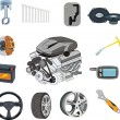 Auto parts set - Stock Vector