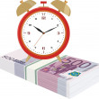 Stock Vector: Time is money