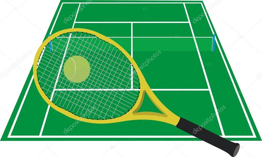 Голый теннисный корт
