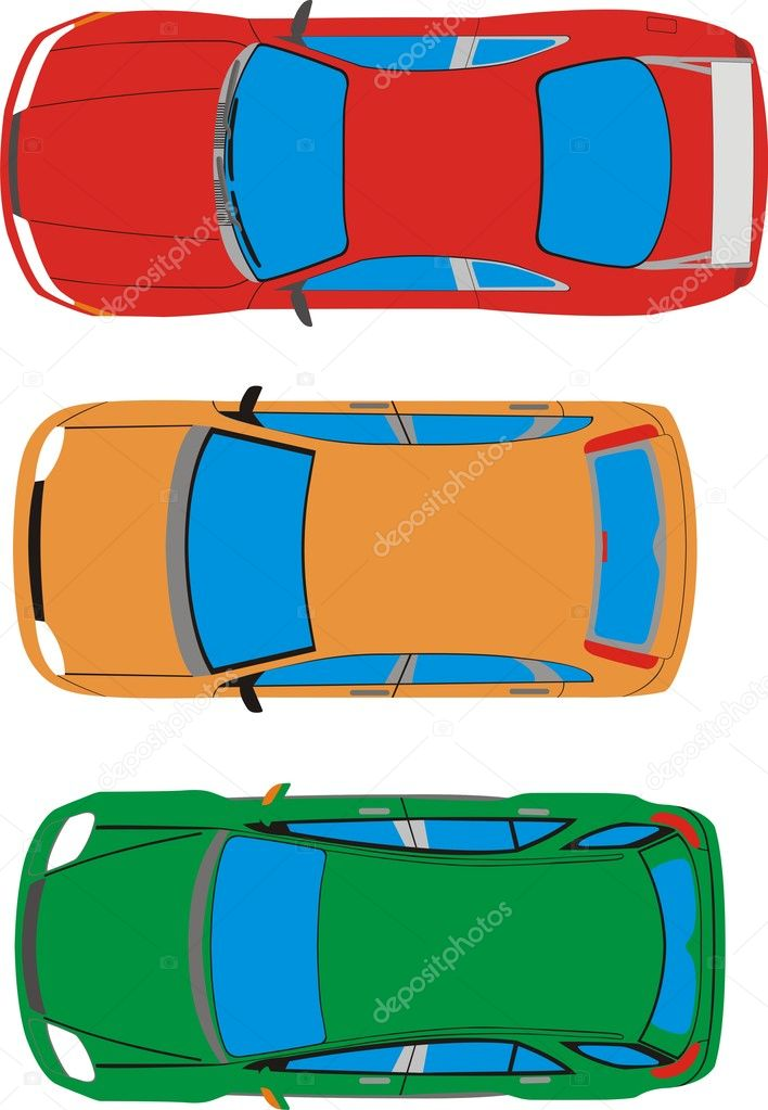 The main types of machines top view  Stock Vector #7397486