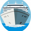 Cruise ship - Stock Vector