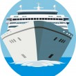 Stock Vector: Cruise ship