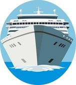 Cruise ship — Stock Vector