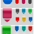 Set of stickers. Vector illustration. — Stock Vector