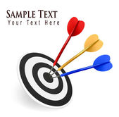 Kleurrijke darten een doel te raken. succes concept. vectorillustratie — Stockvector
