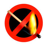 No matchstick fire sign. Vector illustration. — Stock Vector