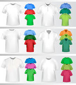 Color and white t-shirt design template. Vector illustration. — Stock Vector