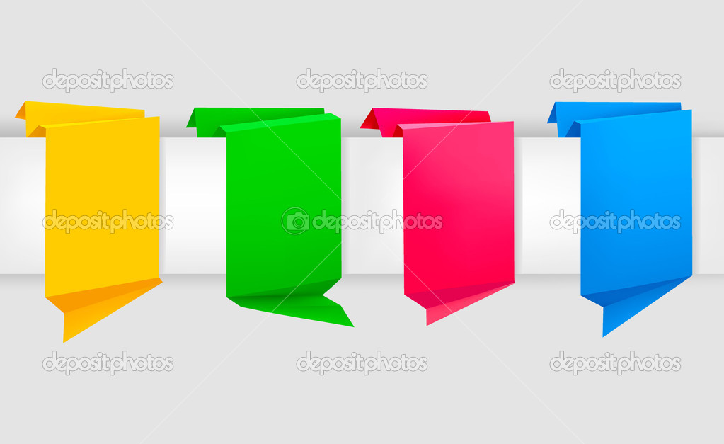 Abstract origami speech bubble vector background. — Stock Vector #6979083