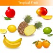 Group with different sorts of fruit. Vector. — Stock Vector #6995369