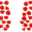 Background with beautiful red poppies. Vector illustration — 图库矢量图片