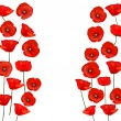 Background with beautiful red poppies. Vector illustration - Stock Vector