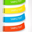 Set with colored stickers. Vector illustration. — Stock Vector #6995876