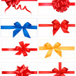 Big set of red gift bows with ribbons. Vector. — Stock Vector #6996120