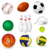 Set of sport balls. Vector — Stock Vector