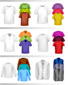 Color t-shirt design template. Photo-realistic vector illustration — Stock Vector