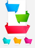 Abstract origami speech bubble vector background — Stock Vector