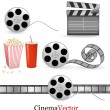 Stock Vector: Set of cinema symbols. Vector illustration.