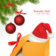 Christmas background with Santa bow. Vector. - Imagens vectoriais em stock