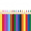 Background with color pencils. Vector — Stock Vector