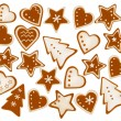 Christmas frame background of gingerbreads. Vector. — Stock Vector